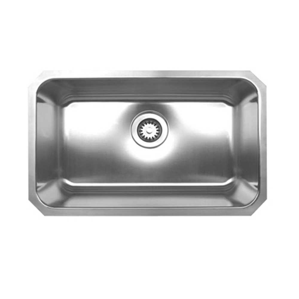 whitehaus collection noah u0027s collection brushed undermount stainless steel 30 25 in  0 hole single bowl kitchen sink whnu2816 bss   the home depot whitehaus collection noah u0027s collection brushed undermount      rh   homedepot com