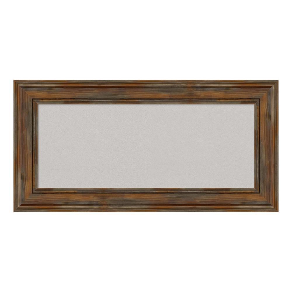 Alexandria Rustic Brown Framed Grey Cork Memo Board
