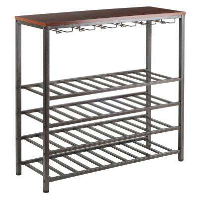 Michelle 40-Bottle Antique Bronze Floor Wine Rack