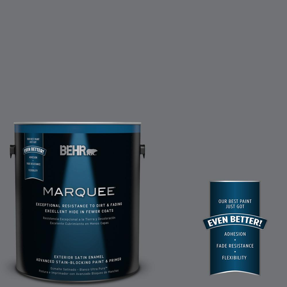 BEHR MARQUEE 1-gal. #PPU18-3 Antique Tin Satin Enamel Exterior Paint