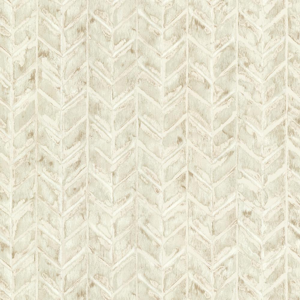 Brewster Beige Foothills Herringbone Texture Wallpaper Sample HZN43064SAM