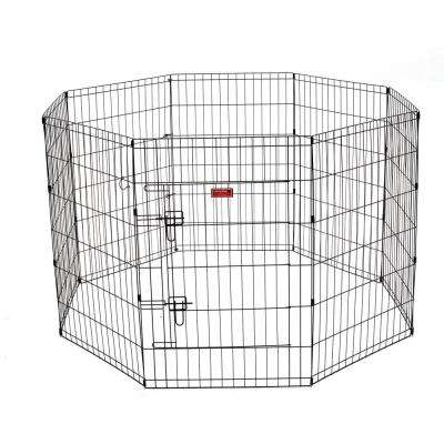 36 in. High Heavy Duty Dog Exercise Pen with Stakes