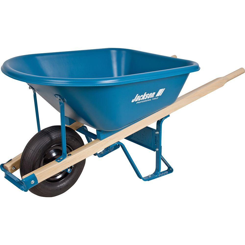 5.75 Cu. Ft. Heavy Duty Corrosion Proof Poly Wheelbarrow