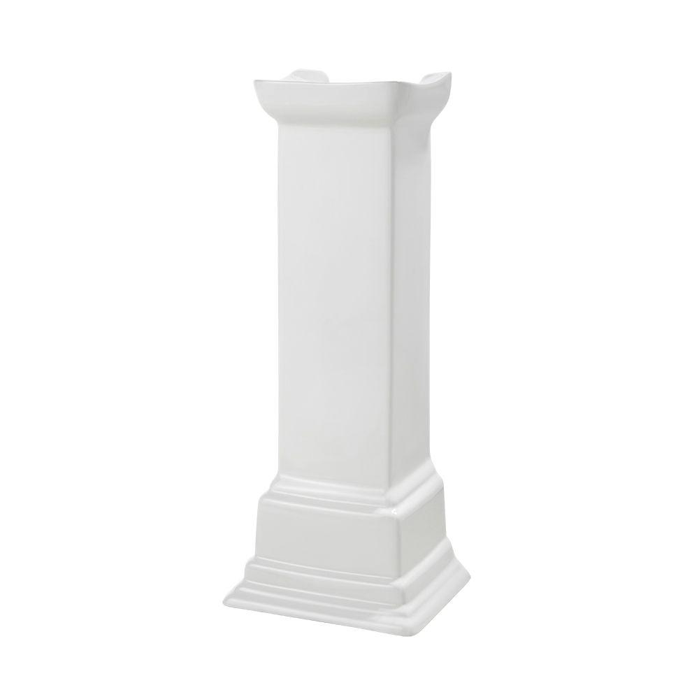 Structure Suite Pedestal Lavatory Leg in White