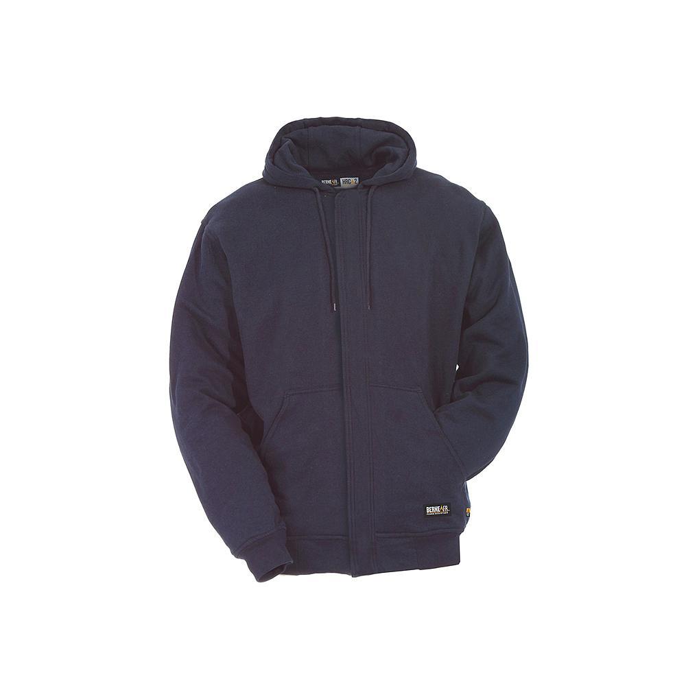 5fec343b424e Berne Men s 4 XL Navy Blue FR Hooded Sweatshirt-FRSZ06NVR600 - The ...