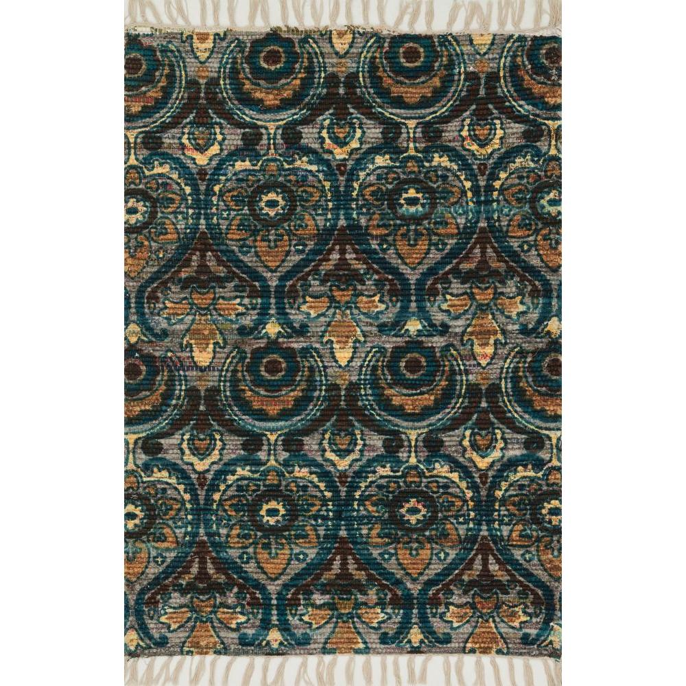 Loloi Rugs Aria Lifestyle Collection Grey/Blue 1 ft. 9 in. x 5 ft. Area Rug
