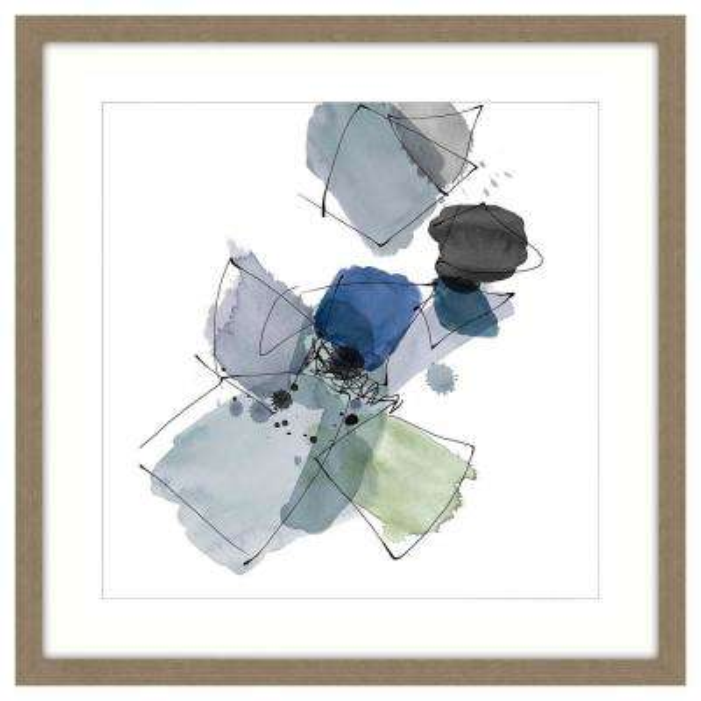"""Olive Garden"" by Unknown Artist Framed Canvas Wall Art"