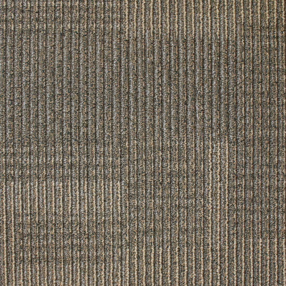 EuroTile Park Avenue Coffee Loop 19.7 in. x 19.7 in. Carpet Tile (20 Piece/Case)