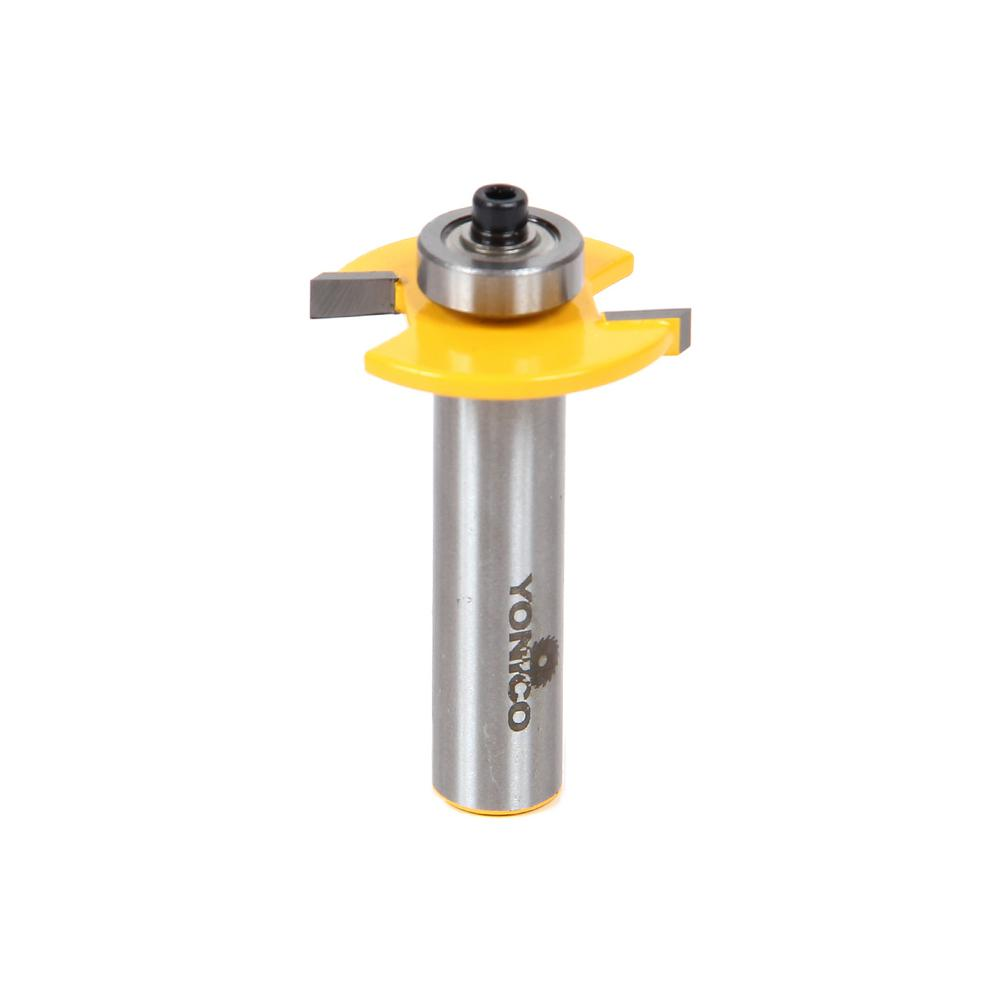 Yonico Biscuit Joint Slot Cutter #10 1/2 in  Shank Carbide Tipped Router Bit