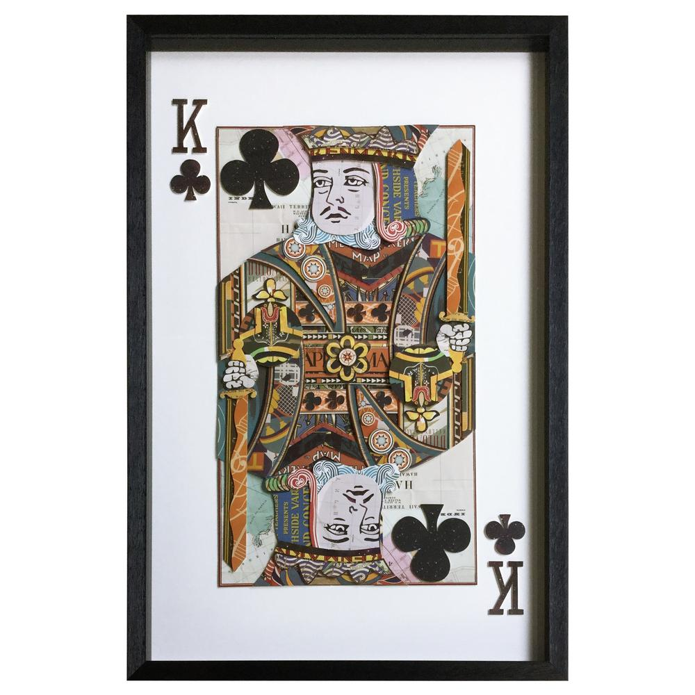Yosemite home decor king of clubs by unknown artist framed wall art 3120052 the home depot