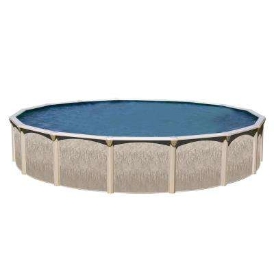 Galveston 27 ft. Round x 48 in. Deep Hard Sided Above Ground Pool Package