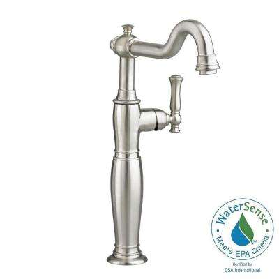 vessel sink faucets brushed nickel. Quentin Single Hole Handle Vessel Bathroom Faucet in Brushed Nickel Sink Faucets  The Home Depot