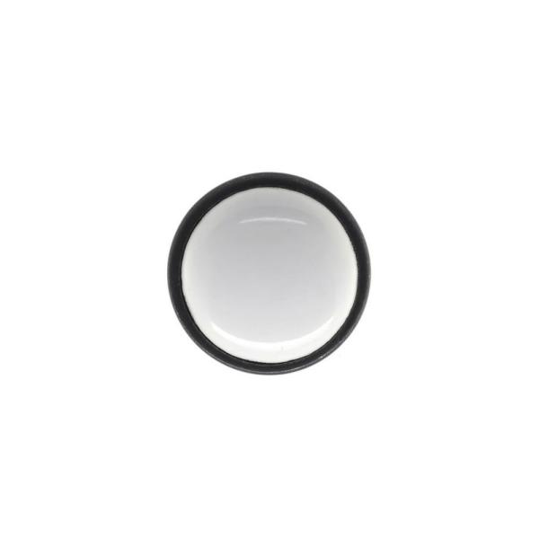 Perennial 1 in. White Ceramic and Oil Rubbed Bronze Coat Hook