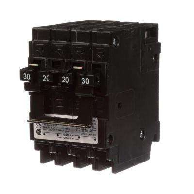 Quadplex Two Double Pole 30 Amp Outside Two Double Pole 20 Amp Inside Circuit Breaker