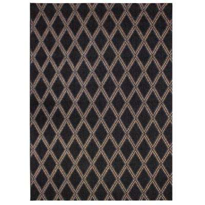 Diamond Brown 7 ft. 10 in. x 10 ft. Indoor/Outdoor Area Rug