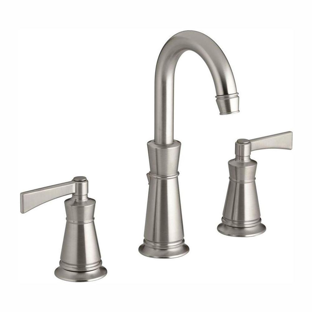 KOHLER Archer 8 in. Widespread 2-Handle Mid-Arc Water-Saving Bathroom Faucet in Vibrant Brushed Nickel