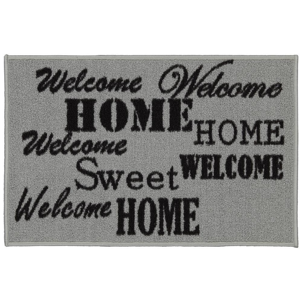 Doormat Collection Rectangular Beige Sweet Home 20 in. x 30 in. Door Mat