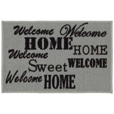 Doormat Collection Rectangular Beige Sweet Home 20 in. x 30 in. Door Mat