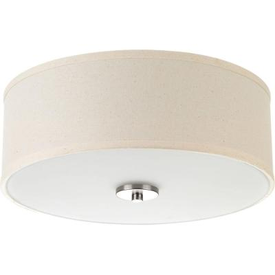 13 in. Inspire Collection 17 -Watt Brushed Nickel Integrated LED Flush Mount