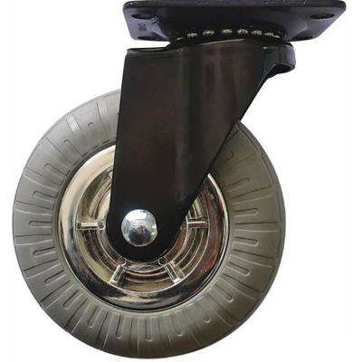 5 in. Chrome Spokes Swivel Caster with 264 lbs. Load Capacity and Soft Rubber Tread (4-Pack)