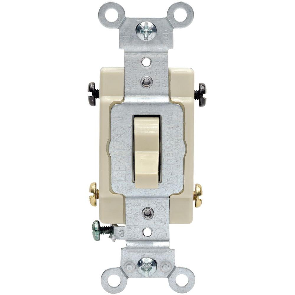 15/20 amp 4-way toggle switch, ivory