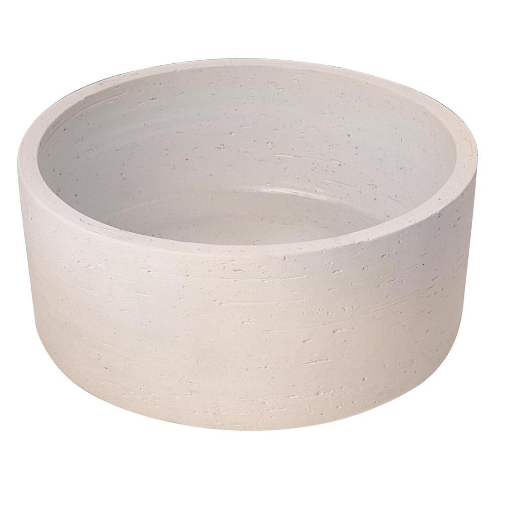 Barclay Products Fango 12 in. Cylindrical Above Counter Basin in Ivory
