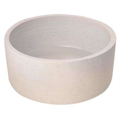 Fango 12 in. Cylindrical Above Counter Basin in Ivory