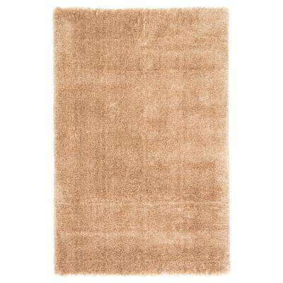 Gisele Tan 4 ft. x 6 ft. Solid Rectangle Area Rug