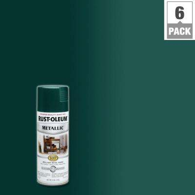 11 oz. Metallic Racing Green Protective Spray Paint (6-Pack)