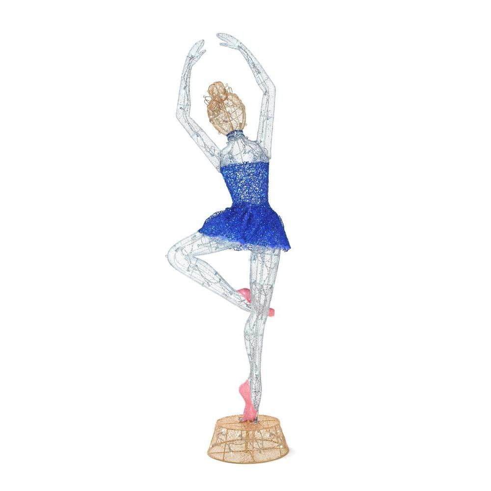 Home Accents Holiday 78 in. LED Lighted Twinkling Tinsel Ballerina
