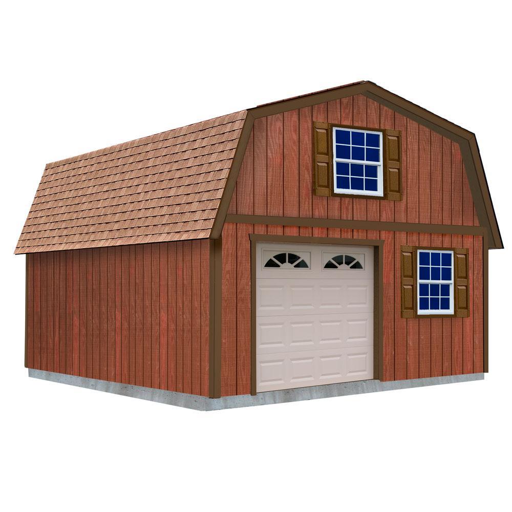 Best Barns West Virginia 16 ft. x 24 ft. x 16-1/4 ft. 2 ...