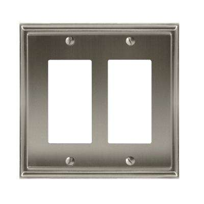 Mulholland 2-Rocker Wall Plate, Satin Nickel