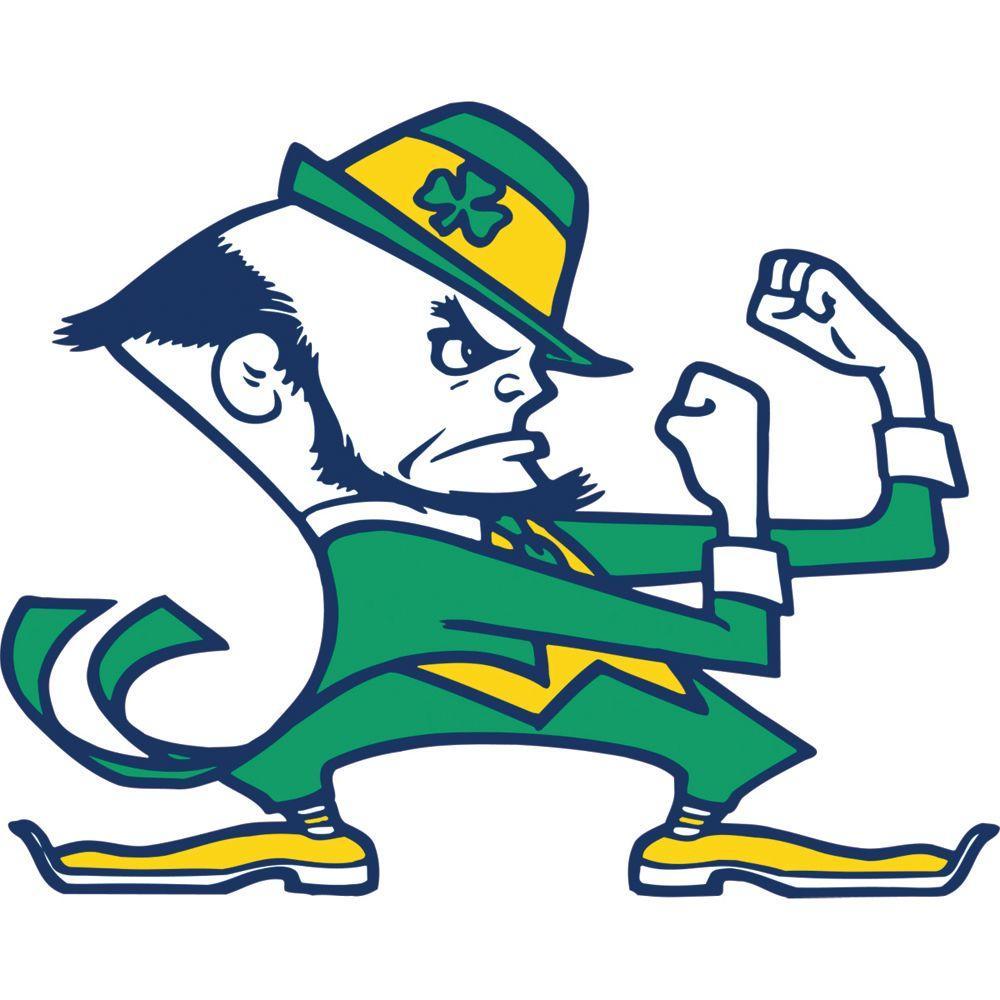 Fathead 47 in. x 37 in. Notre Dame Fighting Irish Logo Wall Decal
