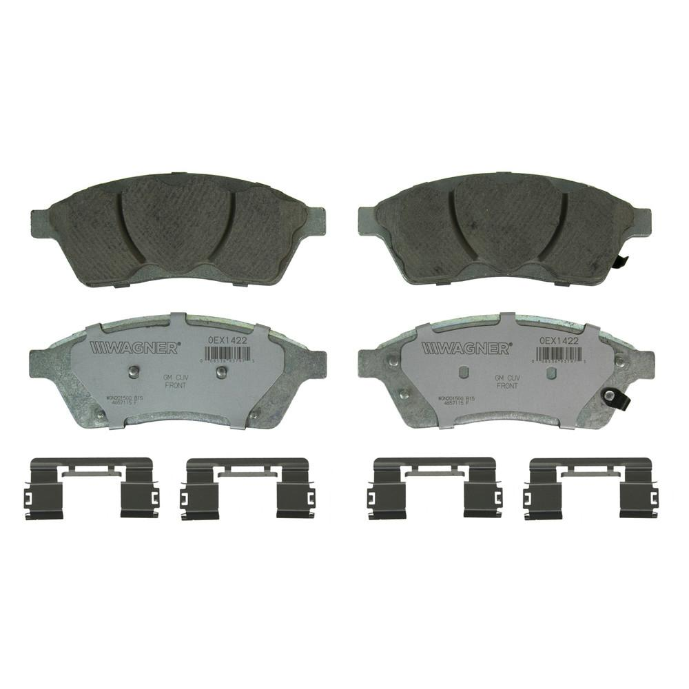 Bosch BE1422 Blue Disc Brake Pad Set for 2010-15 Cadillac SRX and 2011 Saab 9-4X FRONT