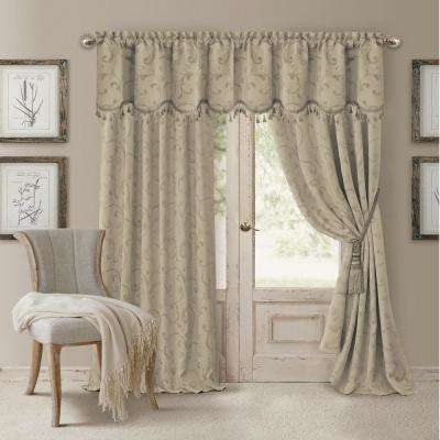 Blackout Natural Blackout Energy Efficient Room Darkening Rod Pocket Window Curtain Drape - 52 in. W x 95 in. L