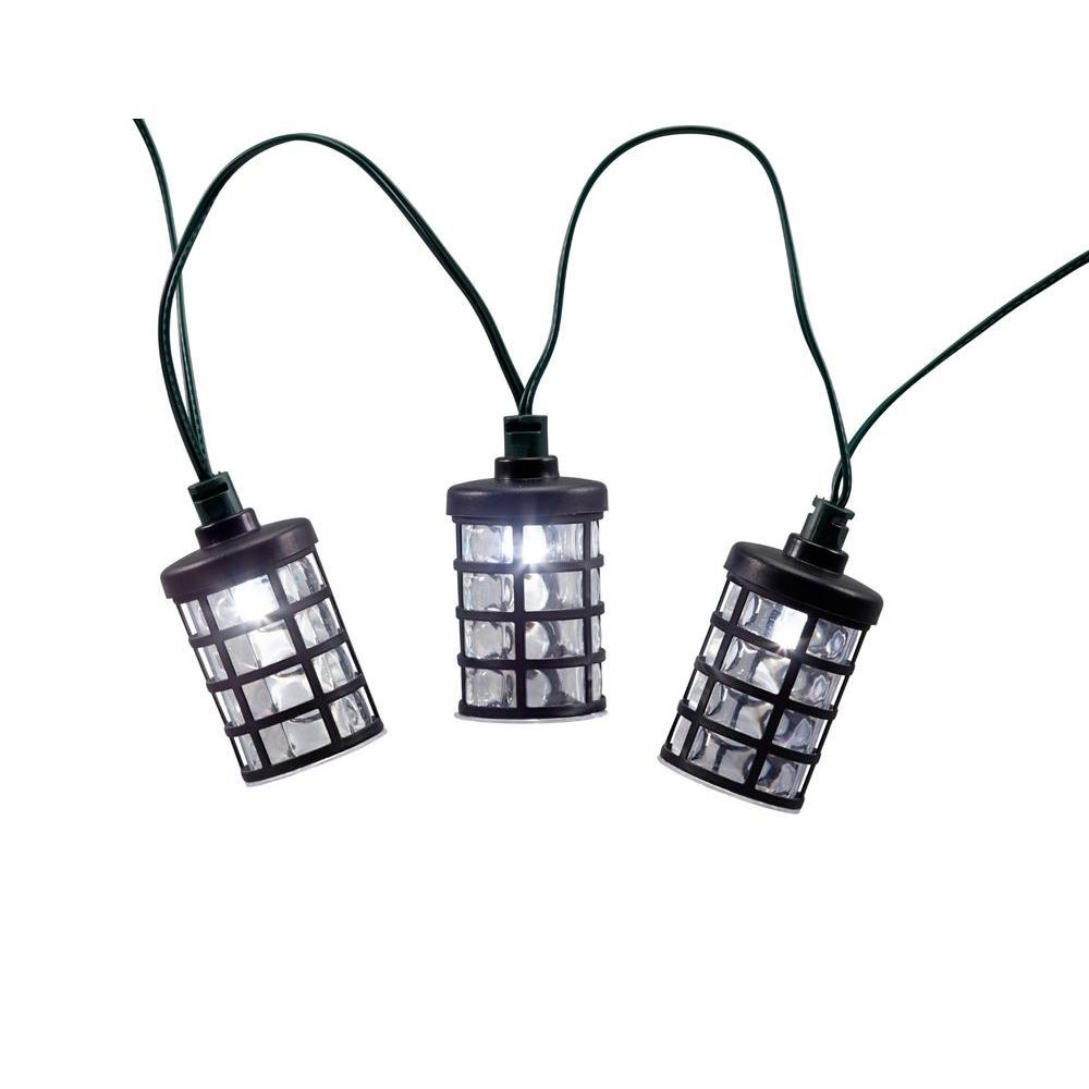Amalia Lantern Solar Integrated LED String Light Set with Stake (20-Piece)