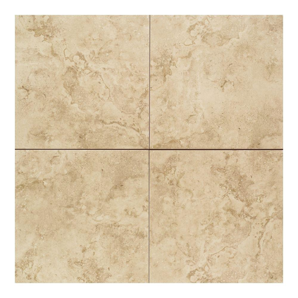 Daltile Brancacci Fresco Caffe 18 in. x 18 in. Ceramic Floor and Wall Tile (18 sq. ft. / case)