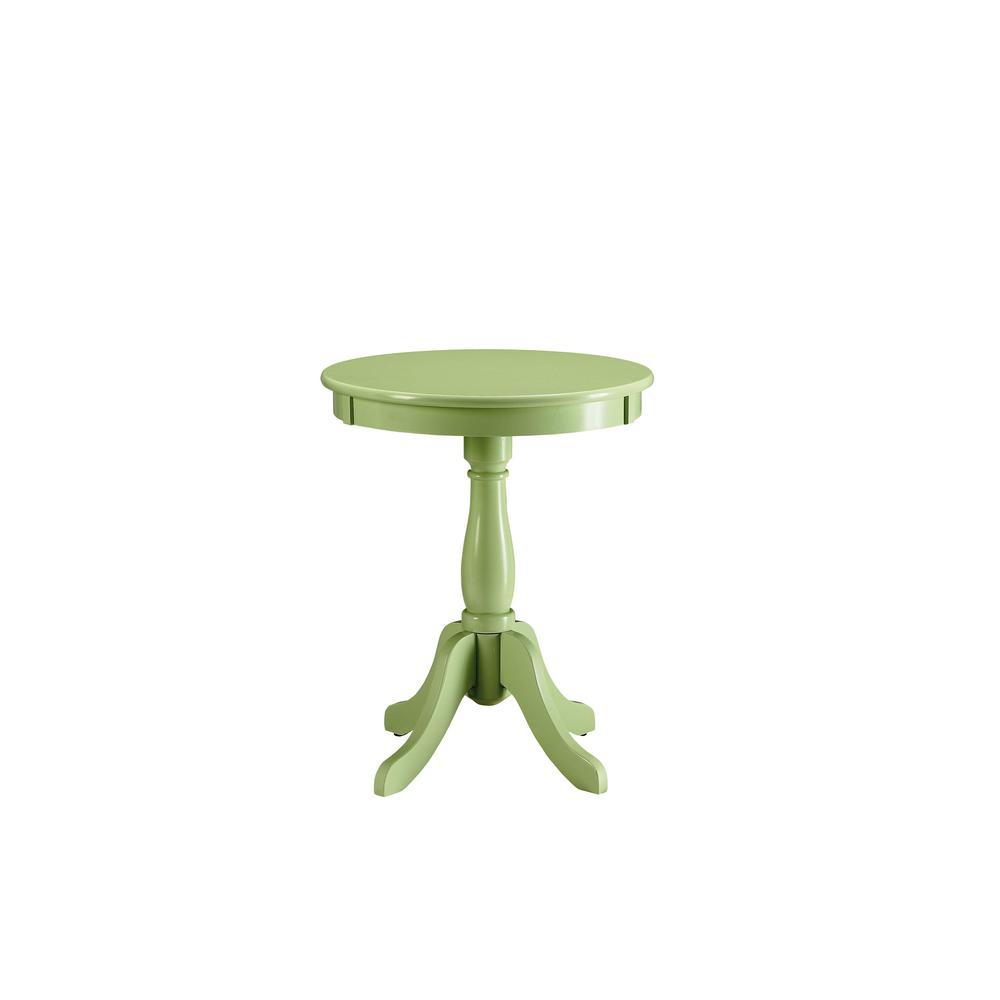 Amelia Green Solid Wood Leg Side Table