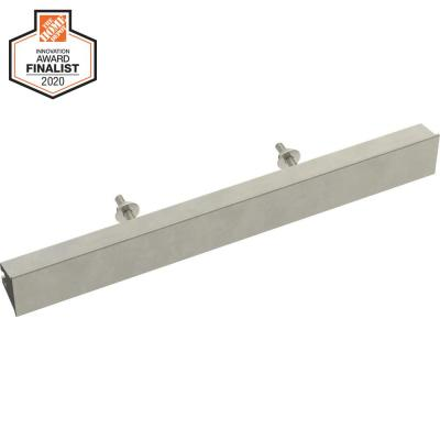 Inclination 2 in. to 8-13/16 in. (51 mm to 224 mm) Satin Nickel Adjustable Drawer Pull