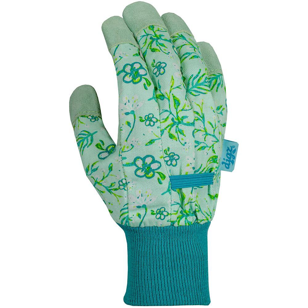 Women's Medium Leather Palm Fabric Gloves
