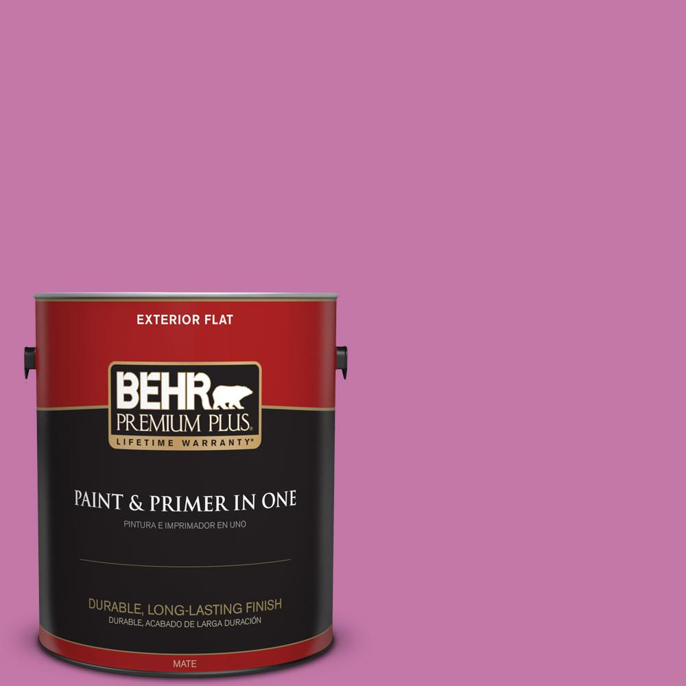 BEHR Premium Plus 1-gal. #680B-5 Strawberry Freeze Flat Exterior Paint