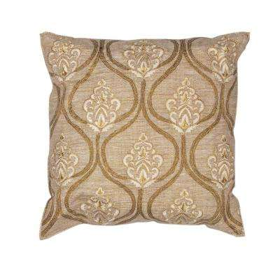 All The Best Gold/Cream Decorative Pillow
