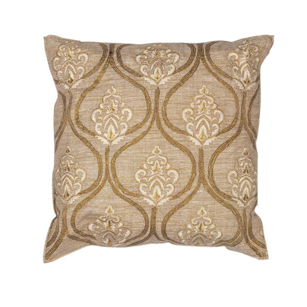 Kas Rugs All The Best Gold Cream Decorative Pillow Pill18218sq The