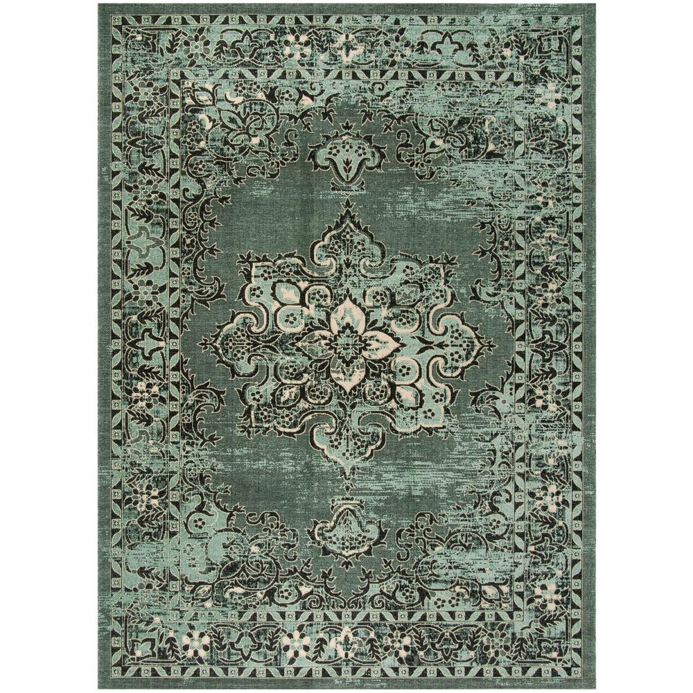 Safavieh Palazzo Green Black 8 Ft X 11 Ft Area Rug Pal124 9052 8