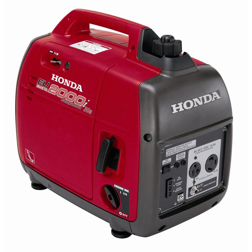 Honda 2000-Watt Super Quiet Gasoline Powered Portable Companion Inverter Generator with Eco-Throttle and 30 Amp Outlet