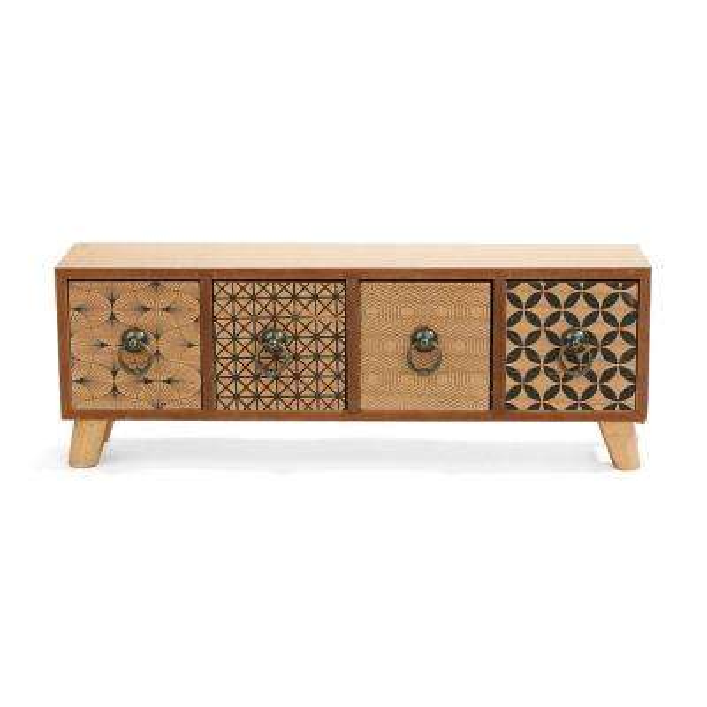 H Brown Small Multi-Functional 4 Storage  sc 1 st  Home Depot & Wood - Storage Bins u0026 Totes - Storage u0026 Organization - The Home Depot