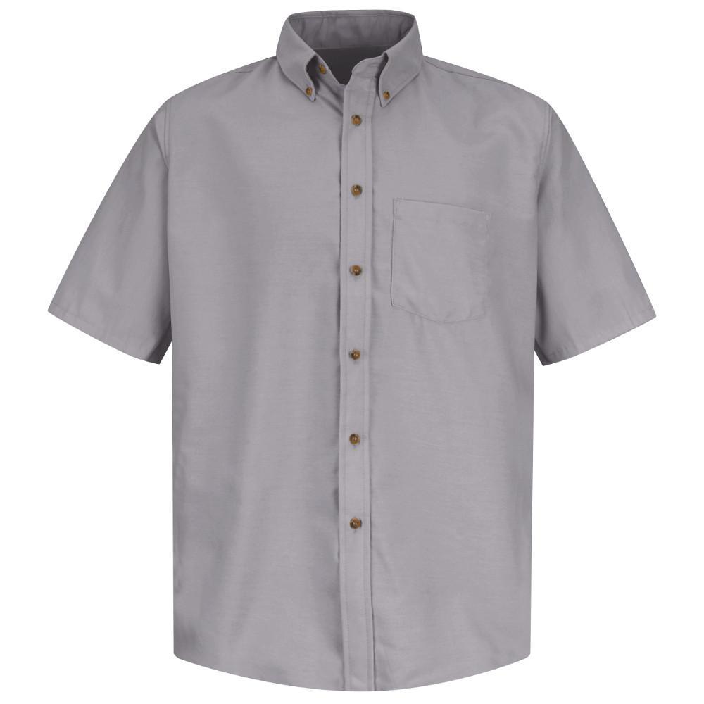Men's Size 3XL Silver Grey Poplin Dress Shirt