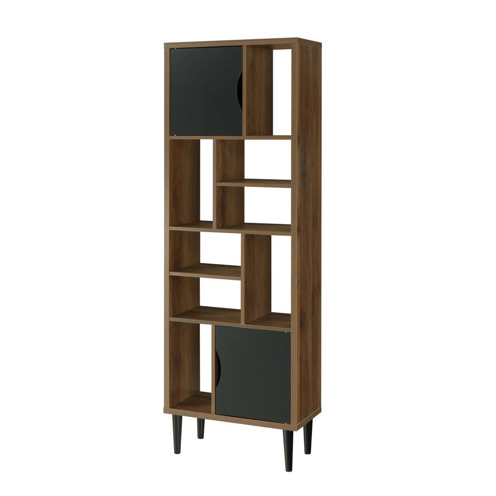 Mid Century Modern Danish Walnut Accent Storage Cabinet with 2-Doors