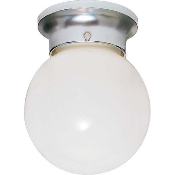 Tony 1-Light Polished Chrome Flush Mount