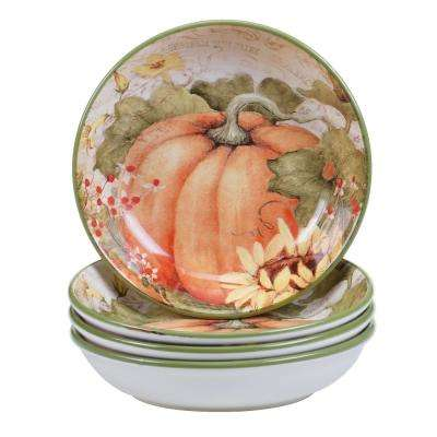 Botanical Harvest Soup and Pasta bowl (Set of 4)